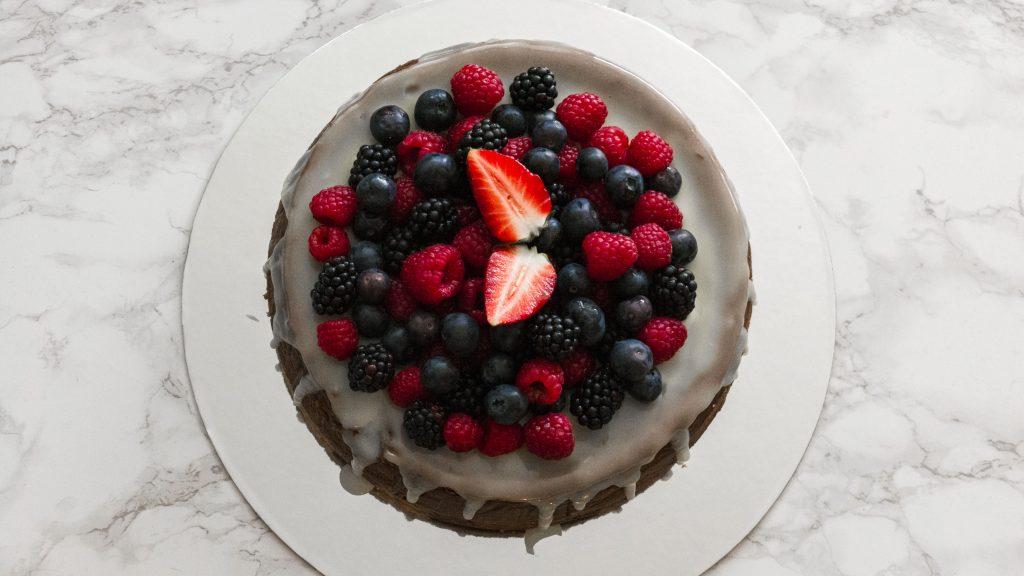 Schokocheesecake mit Beeren