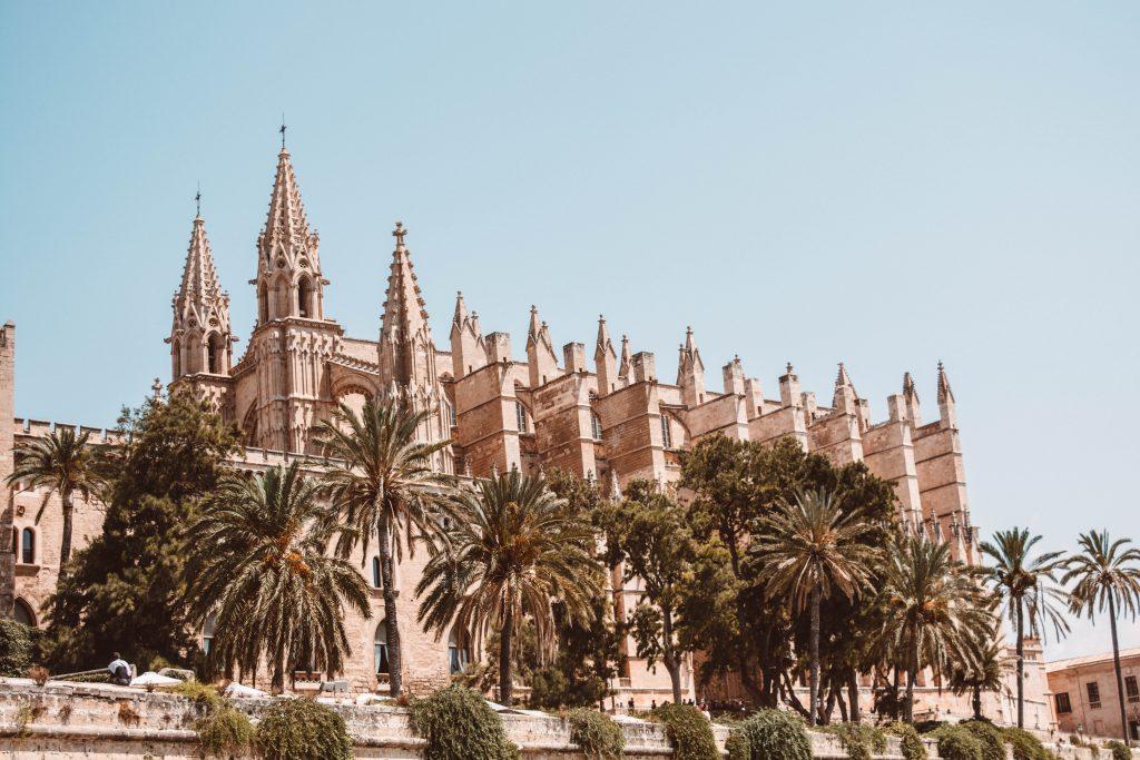 Die Kathedrale La Seu in Palma de Mallora