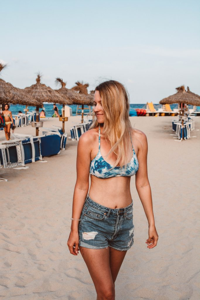 Am Strand in Mesquida