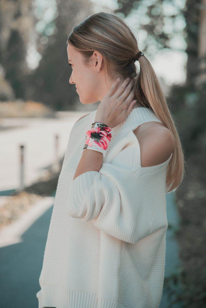 Seidentuch als Armband