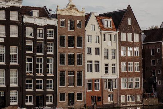 Einige Haeuser in Amsterdam